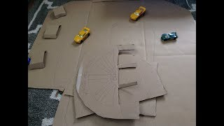 Cardboard Car Bulidings/Racetrack! Diroama Update #1