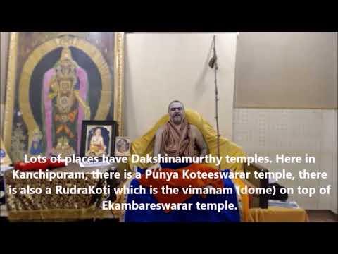 His Holiness Anugraha Bhashanam on Bhagavan Dakshinamurthy delivered during Mahaswamy Jayanthi 2021