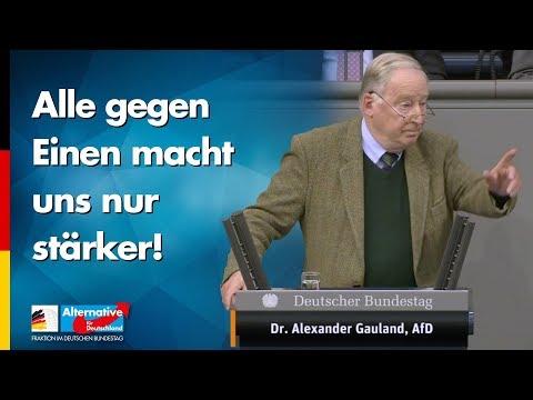 Alle gegen Einen macht uns nur stärker! - Alexander Gauland - AfD-Fraktion im Bundestag