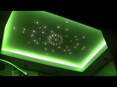 Oświetlenie Led łazienki Zestaw Kryształowe Gwiazdy