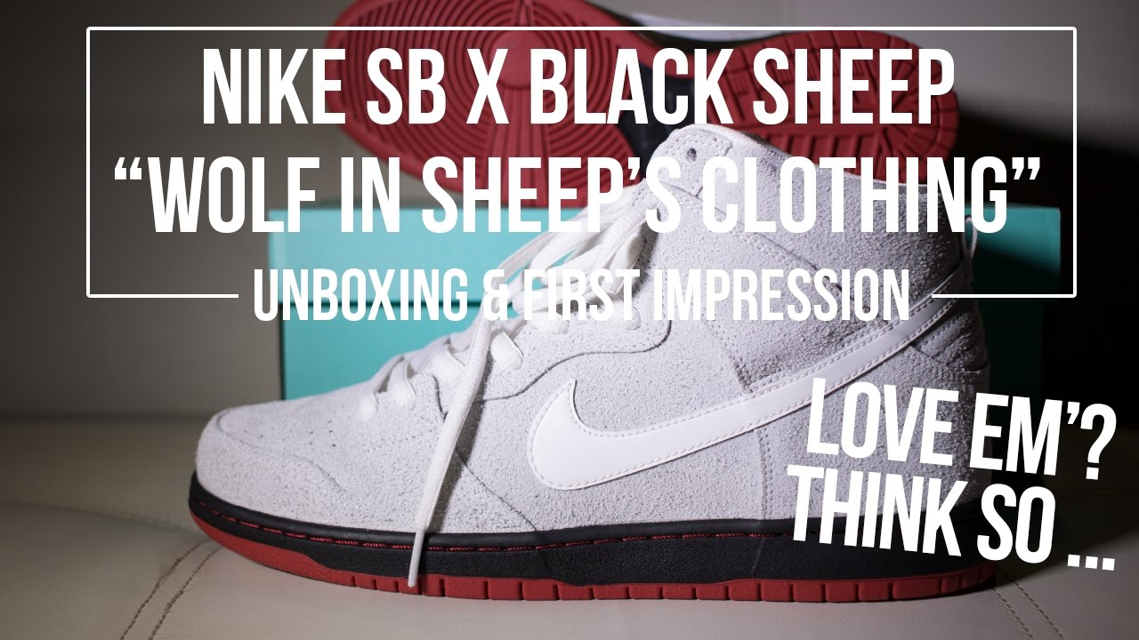 "1c77cc29275b Nike SB x Black Sheep ""Wolf In Sheep s Clothing"" Dunk High Unboxing   First  Impressions"