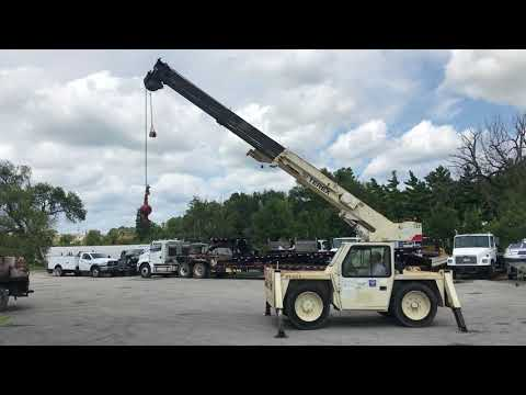 Terex D851 Industrial Carry Deck Crane Functions Video