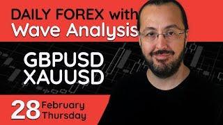 GBPUSD, XAUUSD - 28 February 2019 - Forex Trade Setups Everyday