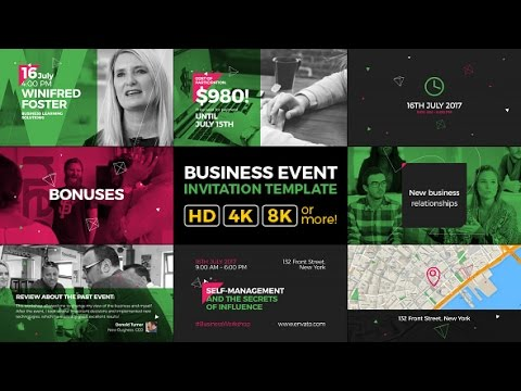 Business Event Invitation Modern and Clean Promo After Effects