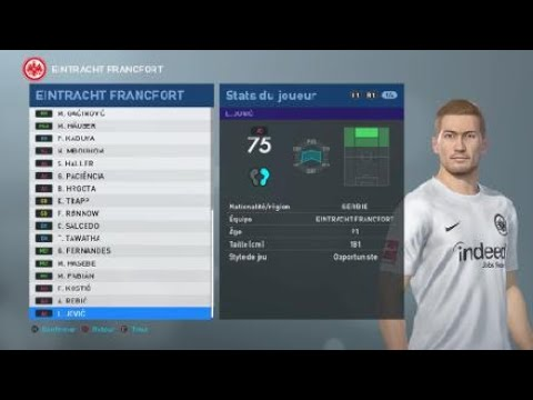 [PES 2019] EINTRACHT FRANKFURT created players stats