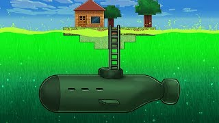 HOW TO BUILD TOXIC OCEAN SUBMARINE BASE! (Minecraft Island Survival)