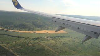 Boeing 737-800 Landing Varna / Přistání ve Varně / Посадка в Варне / PRG - VAR