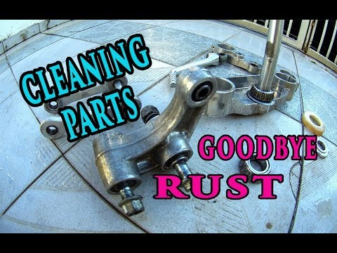Cleaning Dirt Bike Parts And Removing Rust -  2 Stroke Dirt Bike Restoration  Part 2