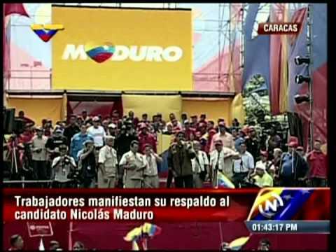 Maduro: Aumento de sueldo mínimo será de 38 a 45 por ciento en 2013