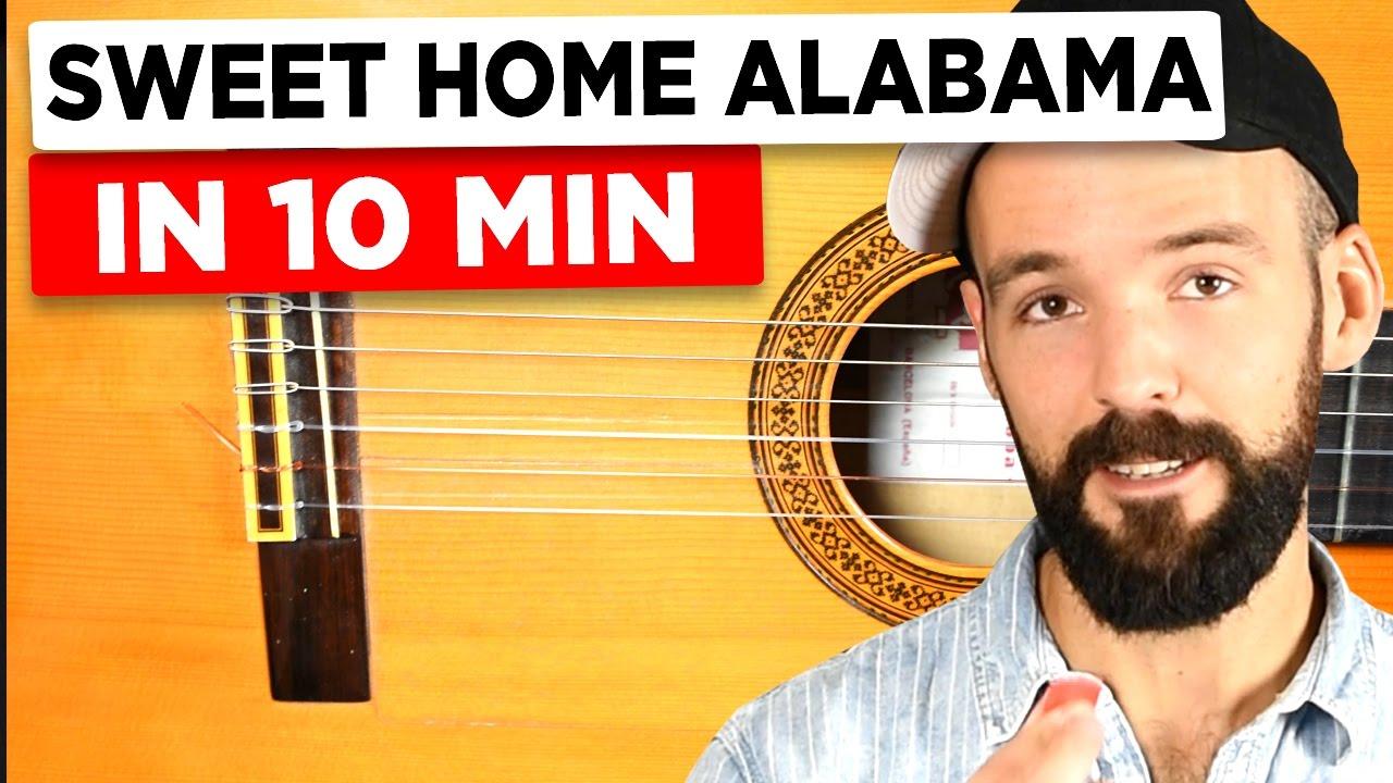 Gitarre Lernen Fr Anfnger Sweet Home Alabama Einfach Erklrt
