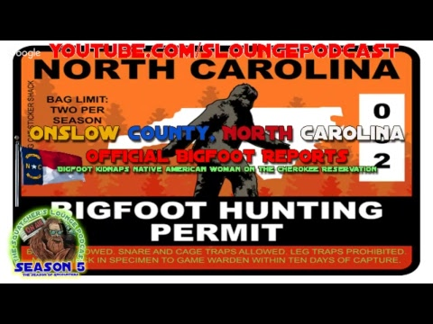 Onslow County North Carolina Bigfoot Reports 2017 - SLP544