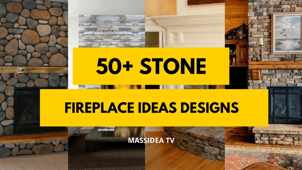 50+ Best Stone Fireplace Ideas Designs 2018 - YouTube