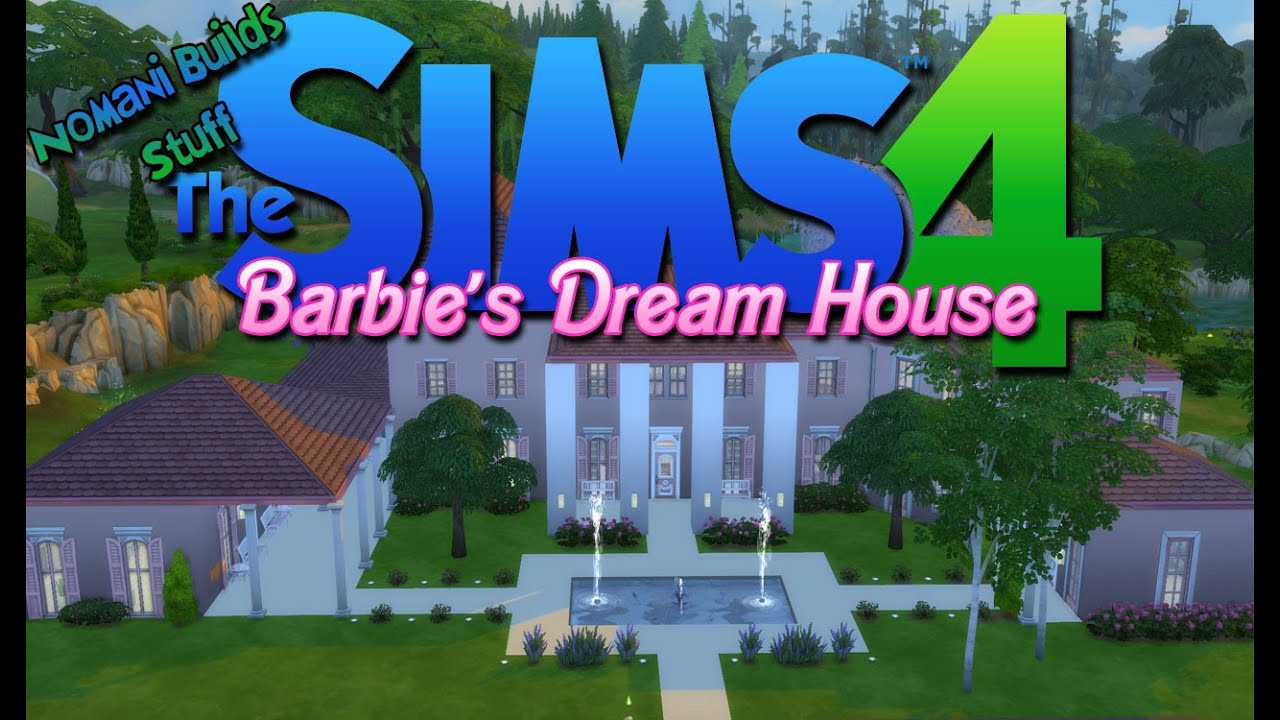 Constructing barbie 39 s dream house the sims 4 speed build youtube Dream house builder