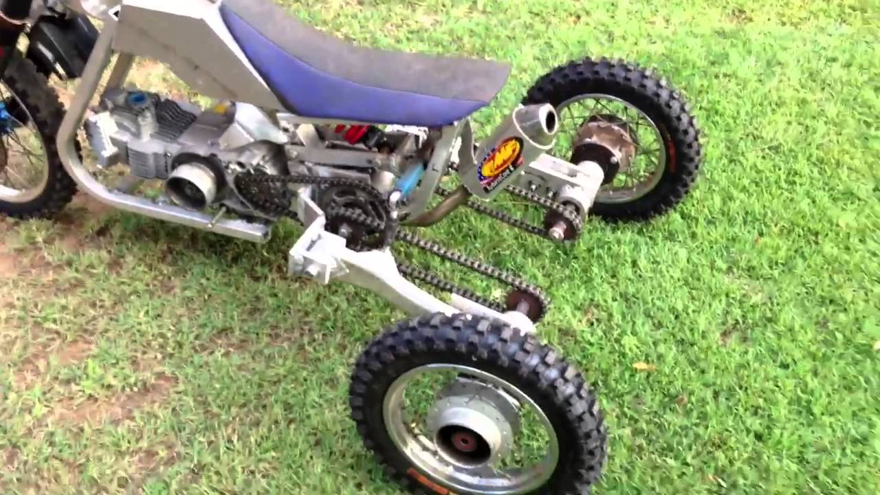 Tilting Trike Pit Bike Youtube