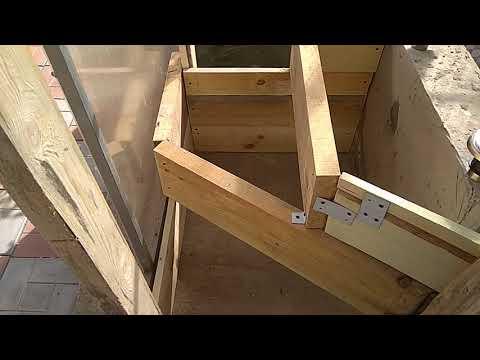 Бассейн часть 12 (монтаж лестницы).
