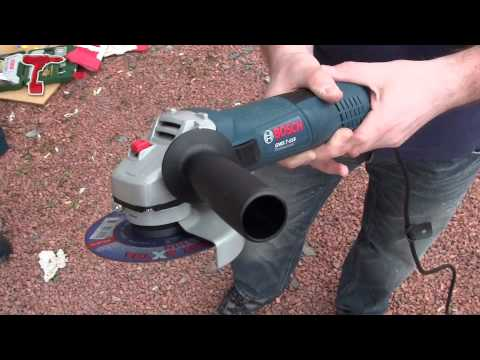 Bosch GWS7-115 115mm Angle Grinder - Demo And Overview