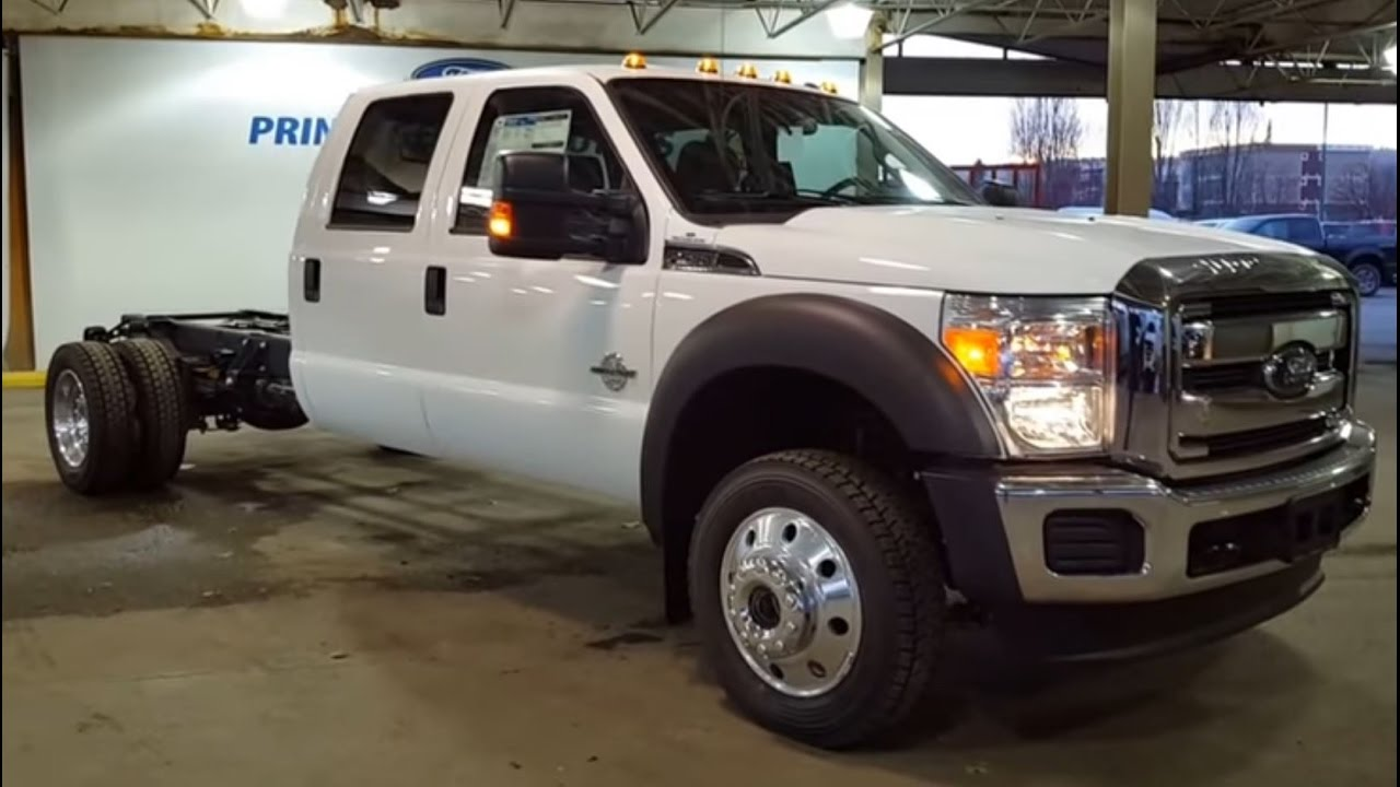 2016 Ford Super Duty F 550 Drw 4x4 Crew Cab Xlt Cab Chassis Review