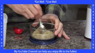 Lose Weight with Flax Seed Breakfast, High in Omega 3