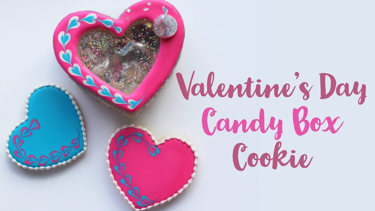 Valentine S Day Candy Box Cookie Youtube