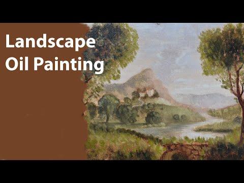 Timelapse Landscape Oil Painting Demo