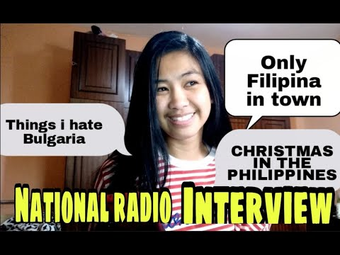 Bulgarian National Radio Interview    FILIPINA IN BULGARIA