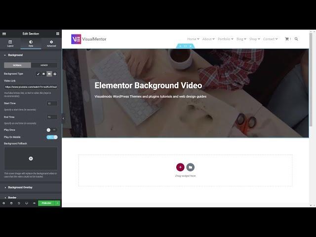 How To Add Background Videos In Elementor WordPress Plugin?