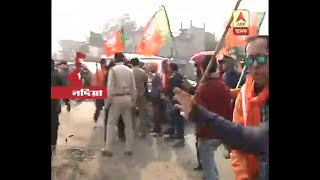 bjp alleges, TMC members attacked their youth rally at Palasy