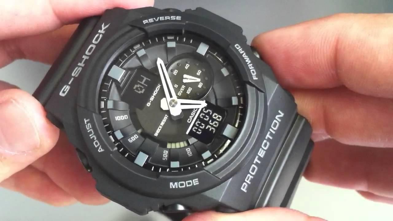 9235a2cb752 Black Casio G-Shock GA150-1A Anti-Magnetic Watch. - YouTube