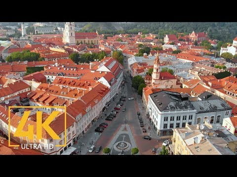 Vilnius, the Capital of Lithuania - 4K Urban Life Relax Video - European Cities