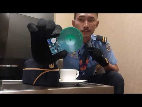 DIY Hand Gloves Metal Detector made By Airport Security