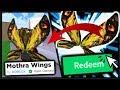 How To Get *FREE* Mothra Wings SECRET CODE, Godzilla Companion & Gidorah Head In Roblox