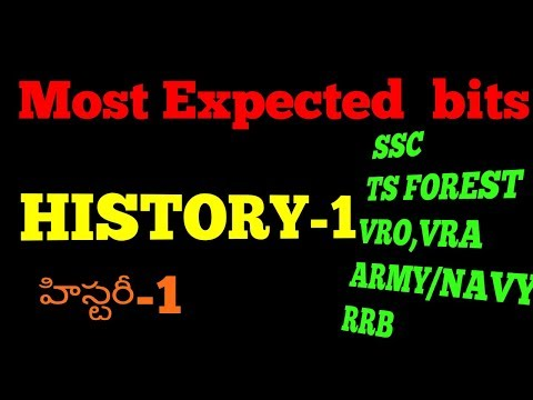 Most expected bits from Indian history/ Indian history in Telugu/ history bits for all govt jobs