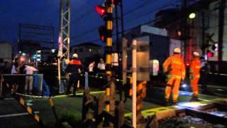 Repeat youtube video 【近鉄】2014.07.01大阪線 堅下3号踏切人身事故現場検証【閲覧注意】