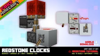 Redstone Clocks for Bedrock | Minecraft Bedrock Edition (MCBE / MCPE)