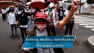 Damnificados y deudos del temblor de hace cuatro años aún demandan justicia y apoyo de autoridades para recobrar sus hogares