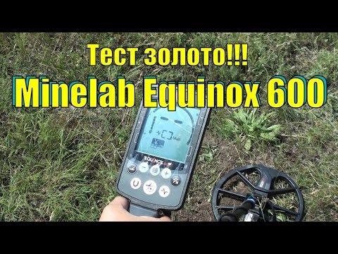#впоискахзолота Тест Minelab Equinox 600  Золото. В поисках золота UA!