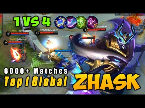 6000+ Matches Zhask Magic Damage Build - Top 1 Global ZHASK Mobile Legends