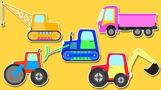 Coloring Book | Construction Vehicles | Colors For Kids