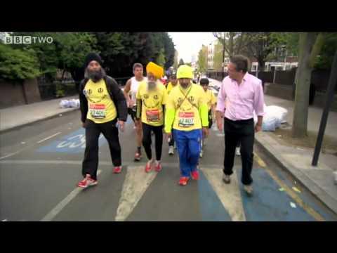 101-year-old Fauja Singh Runs the London Marathon - Horizon: Eat, Fast and Live Longer - BBC Two