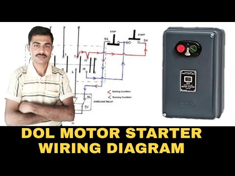 Dol Starter Control Wiring And Power Wiring Diagram Youtube