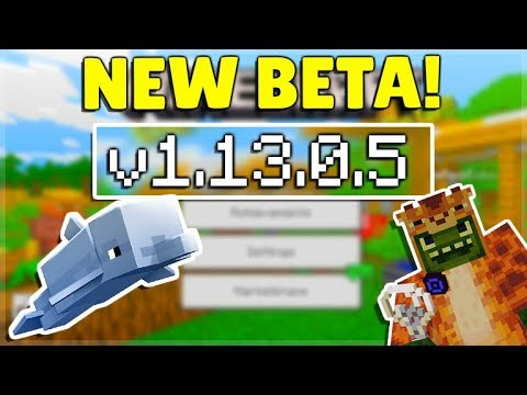 MCPE 1.13.0.5 BETA - Dolphins Are Smarter Minecraft Pocket Edition Changes & More!
