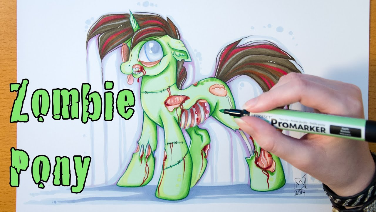 speed drawing my little zombie mlp youtube