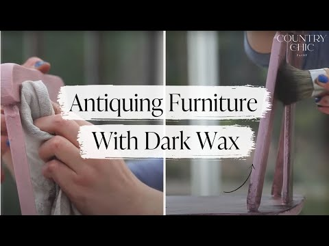 How To Antique Furniture | Dark Wax Tutorial - How To Antique Furniture Dark Wax Tutorial - YouTube