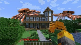 GIANT OCEAN CRAB APPEAR IN MY HOUSE IN MINECRAFT !! CRABZILLA !! Minecraft Mods