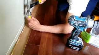 A quick tip on installing hardwood flooring when you get close to the wall