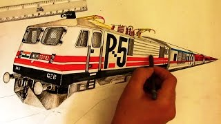 WAP5 30003 with Rajdhani sketching [INDIAN RAILWAYS]