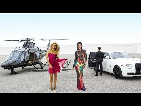 Rihanna Vs Shakira - The Rich life, Net...