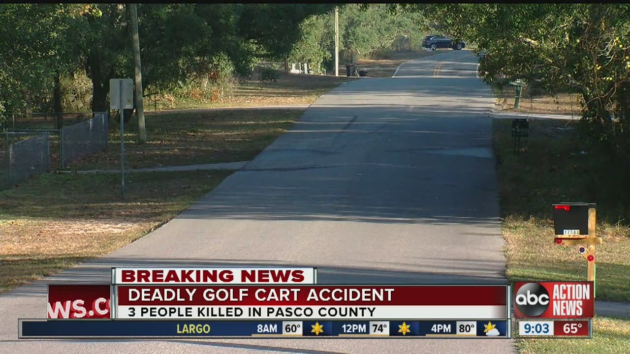 Three dead in golf cart accident in Pasco