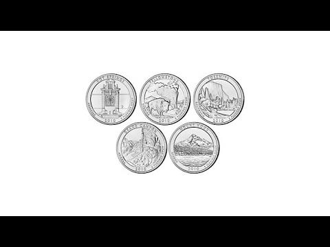 2010 5oz. Silver Bullion 5piece National Park Quarter Set
