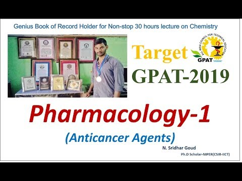 Pharmacology of Anti-Cancer Agents: Target 2018